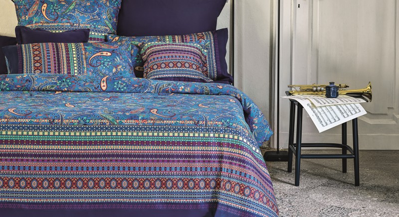 Elegante Bettwäsche in kreativen Mustern und Farben