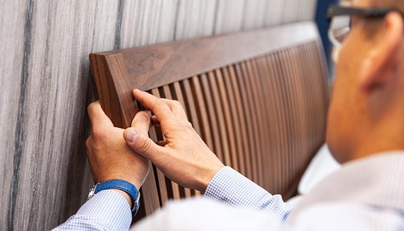 Eine Liebe zu Holz und Holzbetten